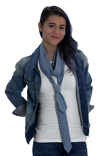 Ty-Amo Gender Inclusive Chambray Tie